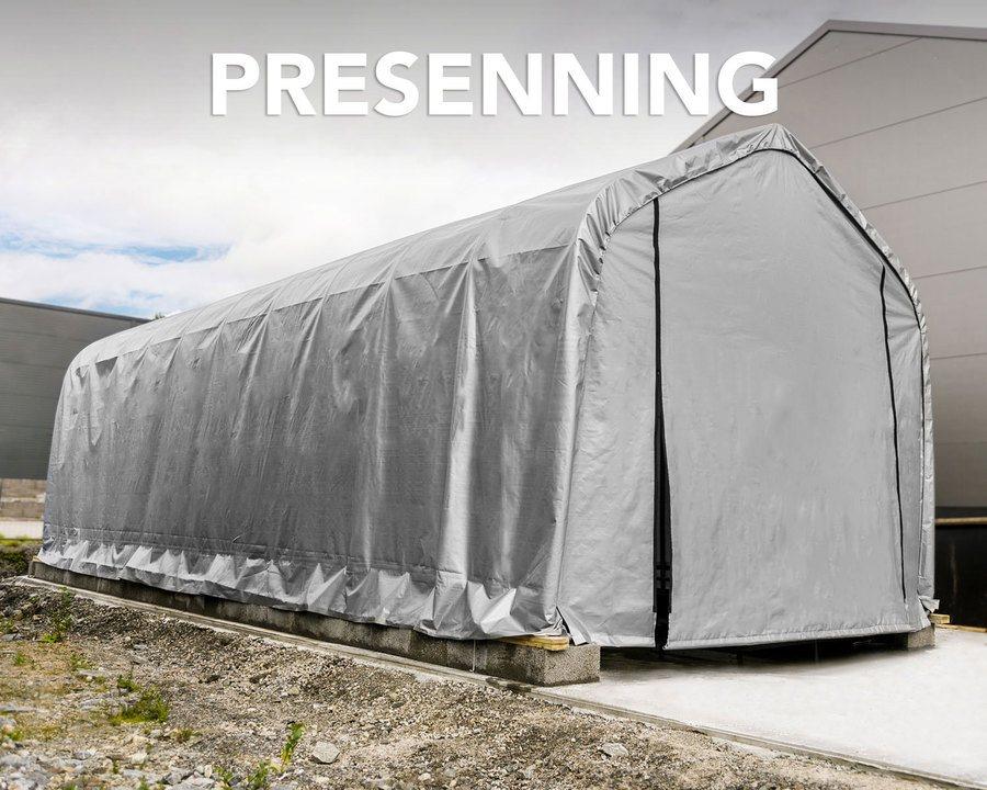 Presenning til garasjetelt på 59 m²