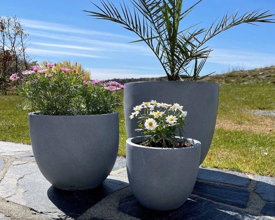 Blomsterkrukker – 3 deler