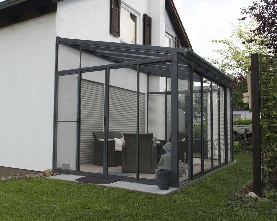 Utestue Palram San Remo, grå – 11,8 m²