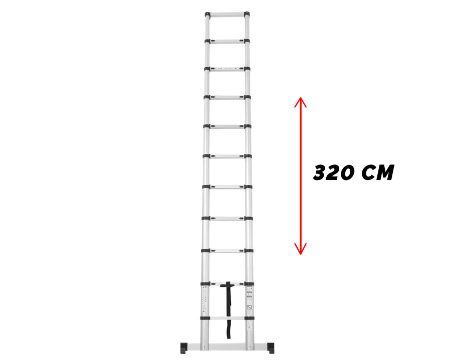 Stige med teleskopfunksjon 3,2 m