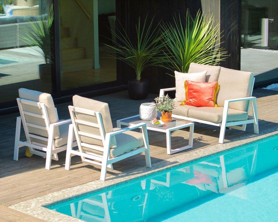Sofagruppe modell Orlando – hvit