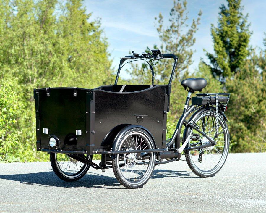 Elsykkel - cargo bike med 6 gir