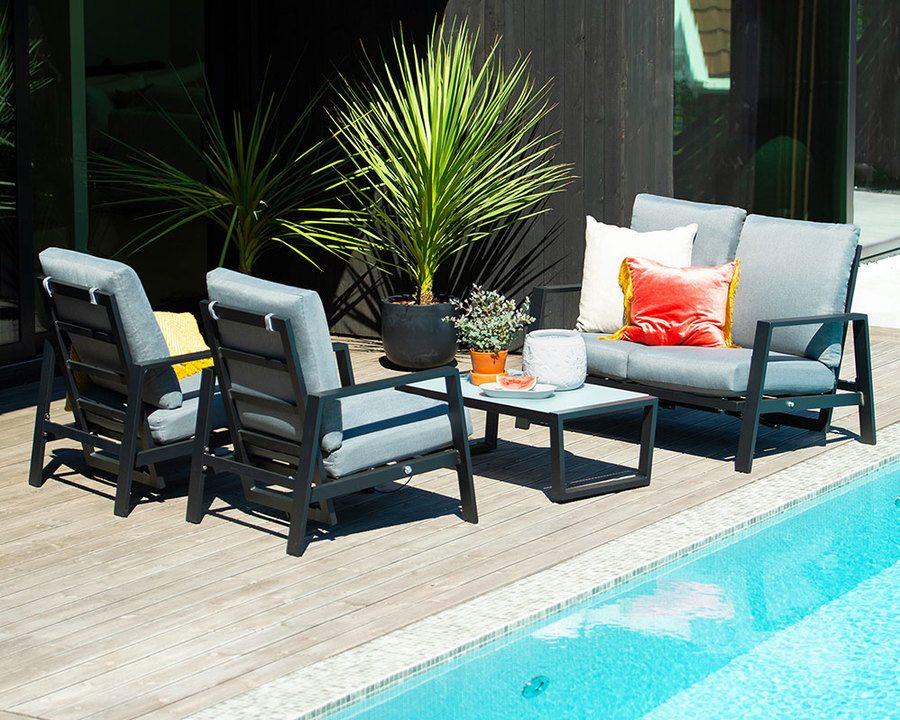 Sofagruppe modell Orlando – sort