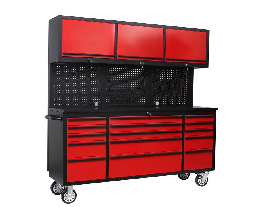 Garasjeinnredning på hjul – rød