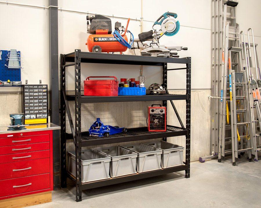 Oppbevaringsreol til garasjen/verkstedet
